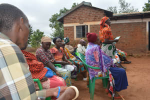 The Water Project: Kathuli Community A -  Members At The Training