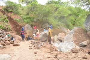 The Water Project: Kathuli Community A -  Working On The Job Site