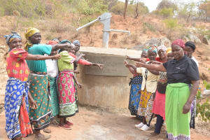 The Water Project: Kathuli Community A -  Pointing To The New Well