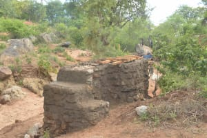The Water Project: Kathuli Community A -  Well Construction