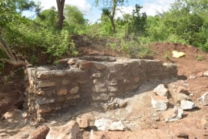 The Water Project: Kathuli Community A -  Well Under Construction