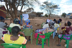 The Water Project: Tulimani Community A -  People Listen At Training