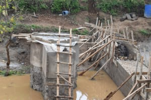 The Water Project: Mbiuni Community A -  Well Construction