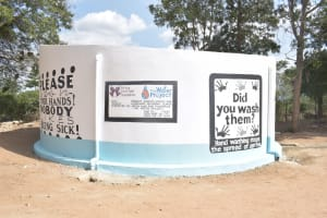 The Water Project: Kiundwani Secondary School -  Complete Tank