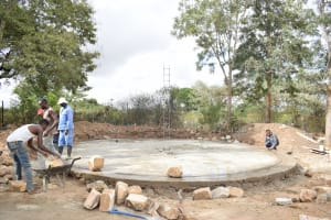 The Water Project: Kiundwani Secondary School -  Construction