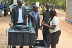 The Water Project: Kiundwani Secondary School -  Handwashing Demonstration