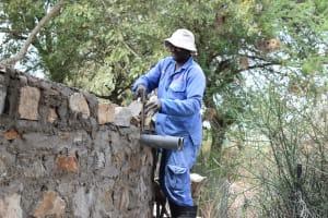 The Water Project: Kiundwani Secondary School -  Mason Works On The Tank