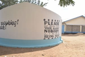 The Water Project: Kiundwani Secondary School -  Tank At School Grounds