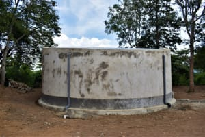 The Water Project: Kiundwani Secondary School -  Tank Cement Work Complete