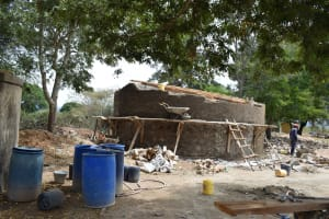 The Water Project: Kiundwani Secondary School -  Tank Construction