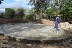 The Water Project: Kiundwani Secondary School -  Tank Construction Begins