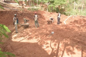 The Water Project: Katalwa Secondary School -  Clearing Out Area For Tank