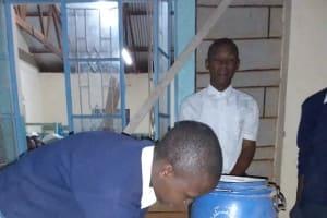 The Water Project: Katalwa Secondary School -  Handwashing Demonstration