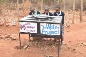 The Water Project: Katalwa Secondary School -  New Handwashing Station