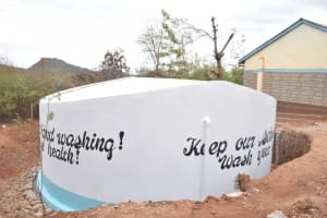 The Water Project: Katalwa Secondary School -  Painted Tank