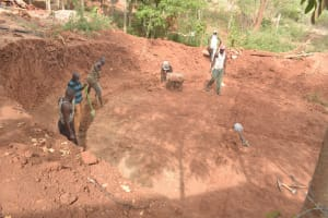The Water Project: Katalwa Secondary School -  Preparing Ground For Tank