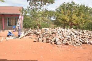 The Water Project: Katalwa Secondary School -  Rocks For Tank Construction