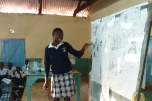 The Water Project: Katalwa Secondary School -  Student Contributes To The Training