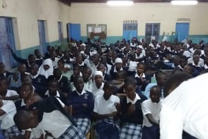 The Water Project: Katalwa Secondary School -  Students Watch Soapmaking Demonstration