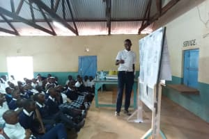 The Water Project: Katalwa Secondary School -  Trainer Teaches The Students