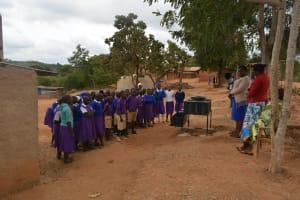 The Water Project: Kwa Kyelu Primary School -  Handwashing Demonstration