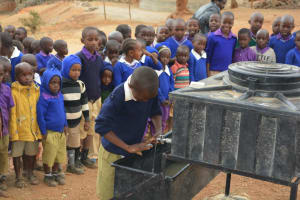 The Water Project: Kwa Kyelu Primary School -  Students Participate In A Handwashing Demonstration