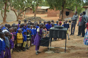 The Water Project: Kwa Kyelu Primary School -  Students Practice Proper Handwashing