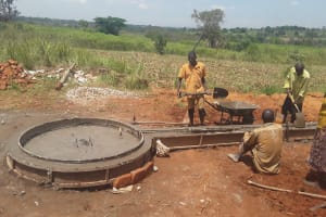 The Water Project: Nyakasenyi Byebega Community -  Cement Work