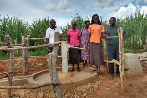 The Water Project: Nyakasenyi Byebega Community -  Community Members At The Well