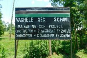 The Water Project: Friends School Vashele Secondary -  School Signpost