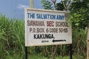 The Water Project: Sawawa Secondary School -  School Signpost