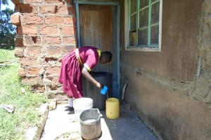 The Water Project: Givudemesi Primary School -  Collecting Rainwater At Home