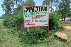 The Water Project: Jinjini Friends Primary School -  Signpost