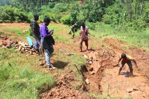 The Water Project: Shisere Community, Richard Okanga Spring -  Site Excavation