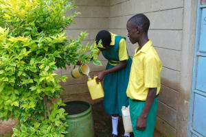The Water Project: Gamalenga Primary School -  Students Fetching Water At Home