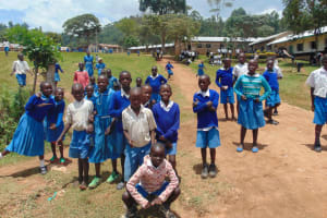 The Water Project: Lwombei Primary School -  Students Pose At The School Entrance