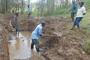 The Water Project: Bumavi Community, Joseph Njajula Spring -  Excavation