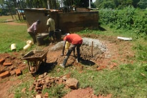 The Water Project: Friends School Mutaho Primary -  Preparing Construction Materials