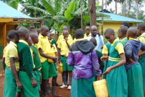 The Water Project: Gamalenga Primary School -  Teacher Having A Word With Pupils Before Breaking For Lunch