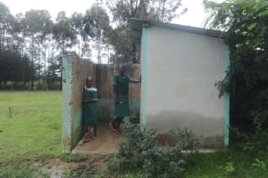 The Water Project: Friends School Mahira Primary -  Girls At Their Latrines