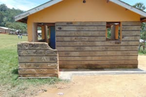 The Water Project: Lwombei Primary School -  Boys Latrines