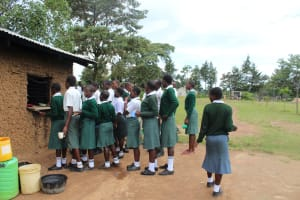 The Water Project: Sawawa Secondary School -  Students Queueing For Their Lunch