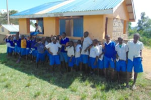 The Water Project: Lwombei Primary School -  Boys At Their Latrines