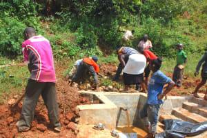 The Water Project: Shisere Community, Richard Okanga Spring -  Backfilling