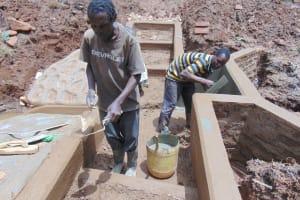 The Water Project: Bumavi Community, Joseph Njajula Spring -  Plaster Works