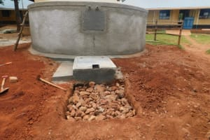 The Water Project: Friends School Mutaho Primary -  Soak Pit Construction Outside Tap Area