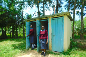 The Water Project: Friends School Vashele Secondary -  Girls At Their Latrines