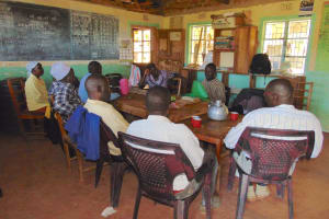 The Water Project: Givudemesi Primary School -  Teachers In Staff Room