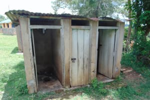 The Water Project: Lwombei Primary School -  Girls Latrines