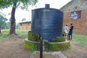 The Water Project:  Small Rain Tank With Broken Tap